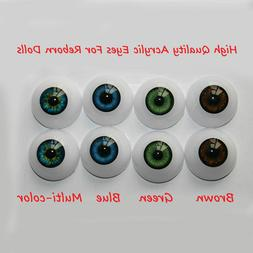 Reborn Doll Baby 24mm DIY Acrylic Blue Eyes Accessories for