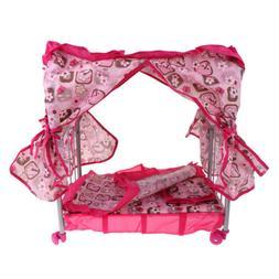 Reborn Doll Baby Doll Bed Kids Pretend Toys Nursery Room Fur