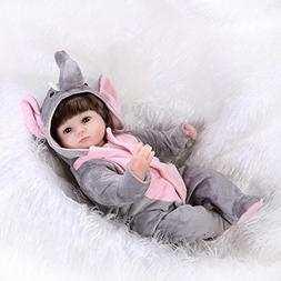 Real Looking Reborn Baby Doll Girl Elephant Outfit Silicone