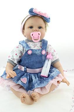 NPKDOLLS Reborn Baby Doll Girl Soft Silicone Vinyl Reborn Do