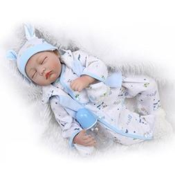 "ZIYIUI 22 "" Reborn Baby Doll Handmade Close Eyes Realistic N"