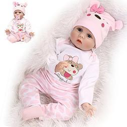"NPK Reborn Baby Doll Girl 22"" Look Real Silicone Vinyl Handm"