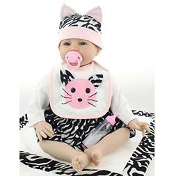 """Reborn Baby Doll Girl look real Soft Silicone 22"""" Weighted B"""
