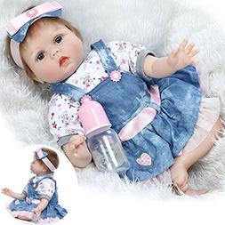 Reborn Baby Doll Girl 22inch 55cm Realistic Soft Vinyl Silic