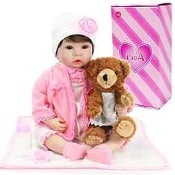 Aori Reborn Baby Girl Doll Realistic Weighted Baby Doll for