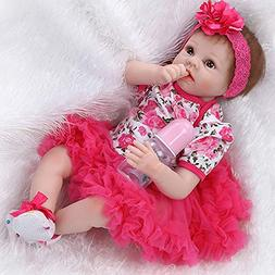 NPK Reborn Baby Doll Red Ballet Skirt Girl Soft Silicone Vin