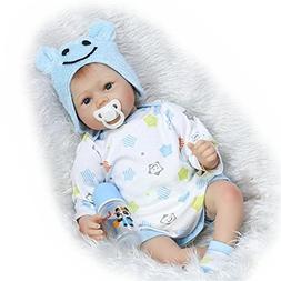 NPK Realistic Reborn Baby Doll Soft Silicone Vinyl Babies Bo