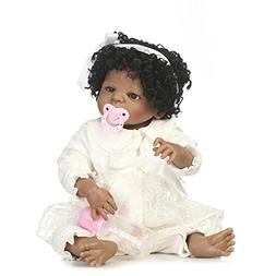 "Reborn Baby Doll Silicone Vinyl Full Body, 22"" African Ameri"