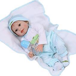 NPK 22inch 55cm Reborn Baby Doll boy Soft Silicone Babies Ma