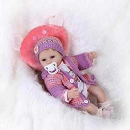 "NPK Reborn Baby Doll Girl 18"" Soft Silicone Real Looking Rea"
