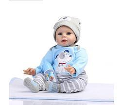 NPK 22inch 55cm Reborn Baby Doll Newborn Boy Soft Silicone R