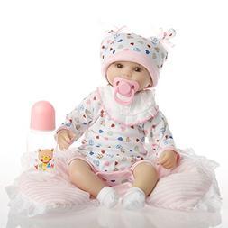SanyDoll Reborn Baby Doll Soft Silicone vinyl 18 inch 45 cm