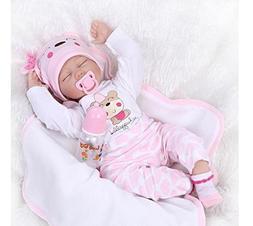 22 inch Reborn Baby Doll Soft Silicone vinyl Lovely Lifelike
