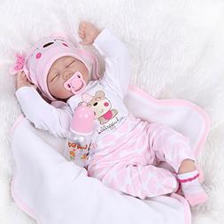 ZIYIUI Reborn Baby Dolls 55CM 22inh Realistic Soft Silicone
