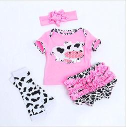 """NPK Reborn Baby Dolls Clothes for 20""""- 22"""" Pink Outfits with"""