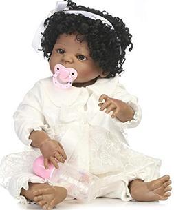 NPK Reborn Baby Dolls African American Girl Black Baby Reali