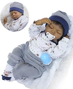 Reborn Baby Dolls African American Boys Black Baby Realistic
