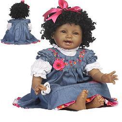 Reborn Baby Dolls African American Girl Black Baby Lifelike