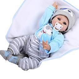 NPK Reborn Baby Dolls Boy 22 Inches Reborn Doll Soft Vinyl S