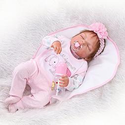 "NPK Reborn Baby Dolls Girl 22"" Lifelike Full Body Silicone V"