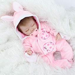 Belly Reborn Baby Dolls Lifelike Soft Silicone Baby Gift ,16