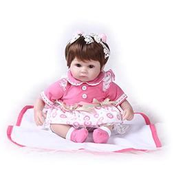 Pompon Reborn Baby Dolls Girl Look Real Lifelike Toddler Sil