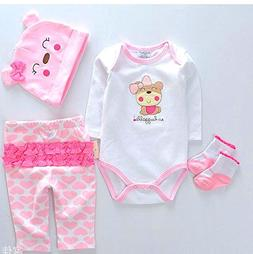 "NPK Reborn Dolls Baby Clothes Pink Outfits for 20""- 22"" Rebo"