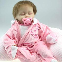 "NPK 18"" Reborn Baby Dolls Girl Playmate Partners Pink Clothe"