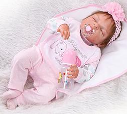 "NPK Reborn Baby Dolls Girl 22"" Realistic Full Body Silicone"