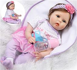 Reborn Baby Dolls Girl Realistic Soft Vinyl Silicone 22 inch
