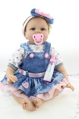 NPK Reborn Baby Dolls Toddler Soft Silicone Vinyl Babies 22i