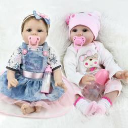 Reborn Dolls Twins Lifelike Girl Dolls Real Baby Doll Realis