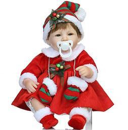 Christmas Santa Reborn Baby Dolls Girl 18 inch with Christma