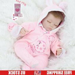 Reborn Silicone Baby Dolls Newborn Vinyl Doll Handmade Girl