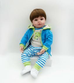 "Reborn Toddler Dolls 18"" Soft Vinyl Silicone Boy Doll Reborn"