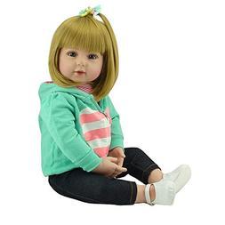 Binxing Toys Reborn Toddlers 24inch 60cm Reborn Baby Girl Do