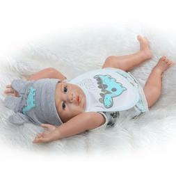 Reborn Twins Dolls 20''/50cm Realistic Full Body Silicone Re