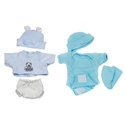 Prettyia Fashion Rompers Shorts with Hat Set for 10-11inch R
