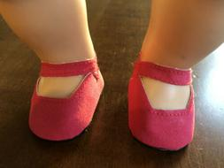 Rose Suede Look Mary Janes  Shoes For Bitty Baby Dolls. New,