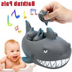 rubber cute shark family bathtub bath tub