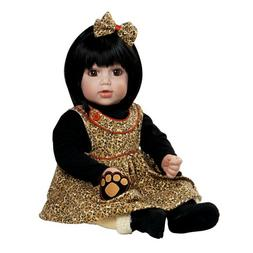 "Adora Sassy Safari 20"" Toddler Time Baby Doll Black Hair Bro"