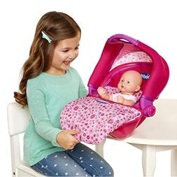 Chicco Travel Seat with Canopy for Baby Dolls, 1 Seat, Pink,