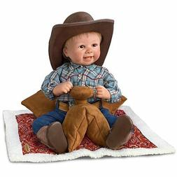 "18"" Sherry Rawn Baby Cowboy Doll with Saddle Display by The"