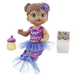Baby Alive Shimmer n Splash Mermaid Baby Doll, Brown Hair, A