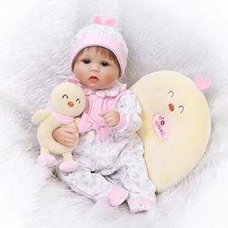 Hukai 16inch Silicon Newborn Lifelike Baby Boy/Girl Doll Whi