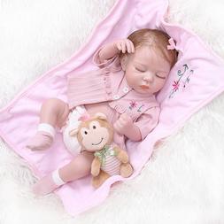 Silicone Full Body Reborn Baby Dolls Sleeping Girl Real Life