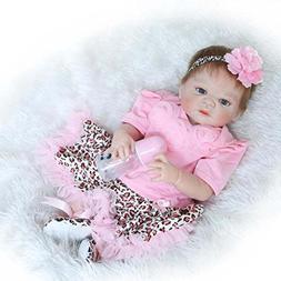 Full Body Silicone Lifelike Reborn Baby Girl Doll 23 inch Wa
