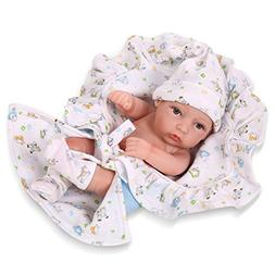 Full Silicone Reborn Baby Doll Hard 18 inch Boy Soft vinyl N
