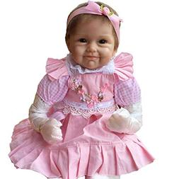 """ZIYIUI 22"""" Silicone Reborn Doll Lifelike Baby Doll with Outf"""