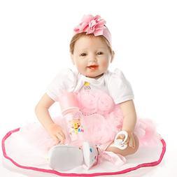 Full Silicone SanyDoll Reborn Baby Doll Soft 22inch Newborn